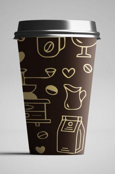 Стакан бумажный кофемол темн 250 мл